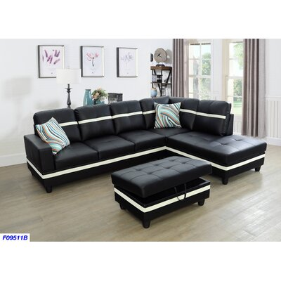 Excellent Andover Mills Russ Sectional With Ottoman Orientation Right Alphanode Cool Chair Designs And Ideas Alphanodeonline
