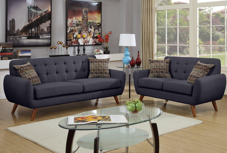 Langley Street Wooten 2 Piece Living Room Set & Reviews | Wayfair