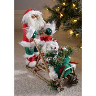 LED FREESTANDING CHRISTMAS TREE ORNAMENT FIGURINE 23.5CM TALL WITH 12 LED LIGHTS