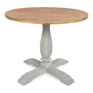 Cofer Round Pedestal Solid Wood Dining Table