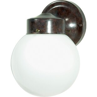 Wrought Studio Olmo Traditional 1-Light Outdoor Sconce
