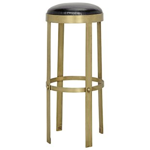 Prince Leather Bar Stool Noir