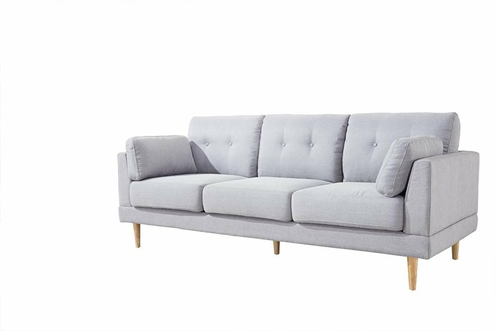 Madison Home Usa Mid Century Modern Ultra Plush Linen Fabric Sofa Reviews Wayfair
