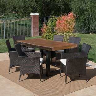 Ries Outdoor 7 Piece Dining Set with Cushions