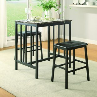 Edgar 3 Piece Counter Height Pub Table Set Woodhaven Hill