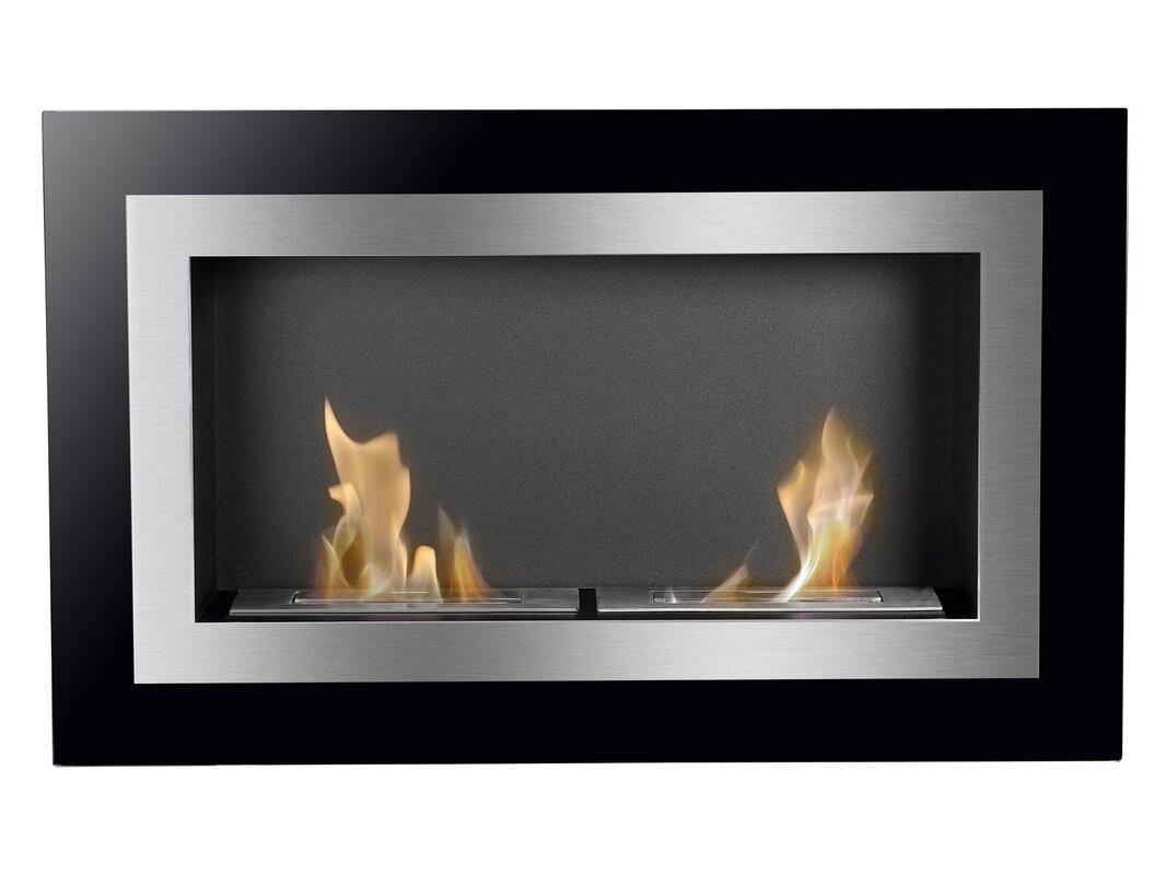 Ignis Villa Ventless Wall Mount Ethanol Fireplace | Wayfair