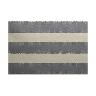 Leann Twisted Stripe Print Gray Indoor/Outdoor Area Rug by Winston Porter Herry Up
