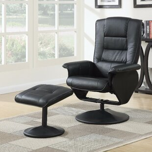 Crossland 2 Piece Manual Recliner Chair with Ottoman