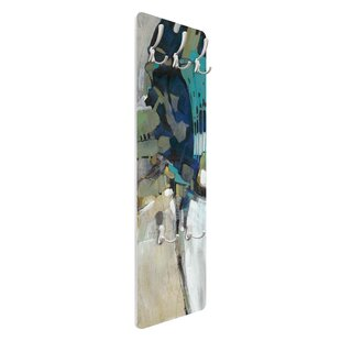 Turquoise Division I Wall Mounted Coat Rack By Symple Stuff