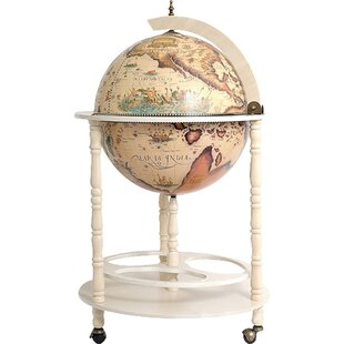 Globe Drinks Cabinet Floor Stand White