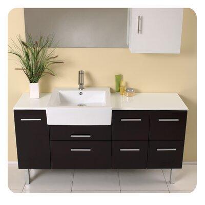 "Modern Bathroom Vanities Pompano Beach fresca torino 54"" single modern bathroom vanity set with mirror"