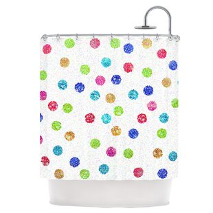 Dots Single Shower Curtain