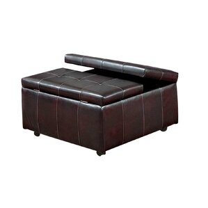 Serta Upholstery Williamsburg Storage Ottoman by Three Posts