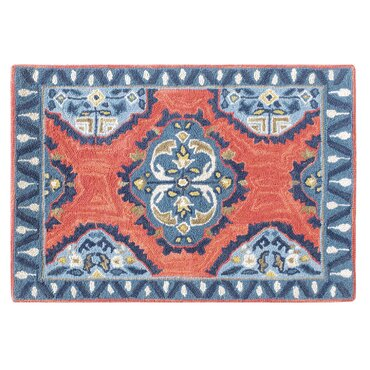 Old Glory Hand Hooked Wool Red/Blue Area Rug