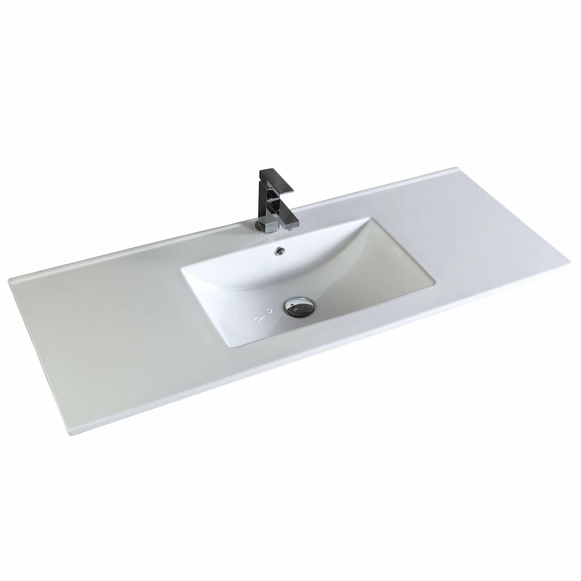 Fine Fixtures Frameport 48 Single Bathroom Vanity Top In White With Sink Wayfair