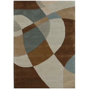 Ashley Swirl Beige/Brown Area Rug