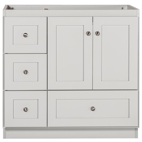 Wondrous Cheever Left Side Drawer Shaker 36 Single Bathroom Vanity Base Only Download Free Architecture Designs Boapuretrmadebymaigaardcom