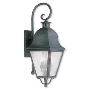 Goodhue 3-Light Outdoor Wall Lantern by A..