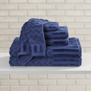 Harva 6 Piece Egyptian-Quality Cotton Towel Set