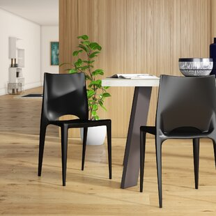 Ruzicka Modern Crescent Stackable Dining Chair