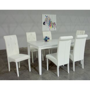 Dita 7 Piece Solid Wood Dining Set by War..
