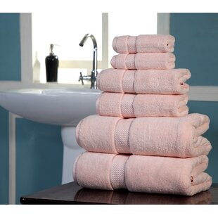 Wicker Park 6 Piece 100% Cotton Towel Set