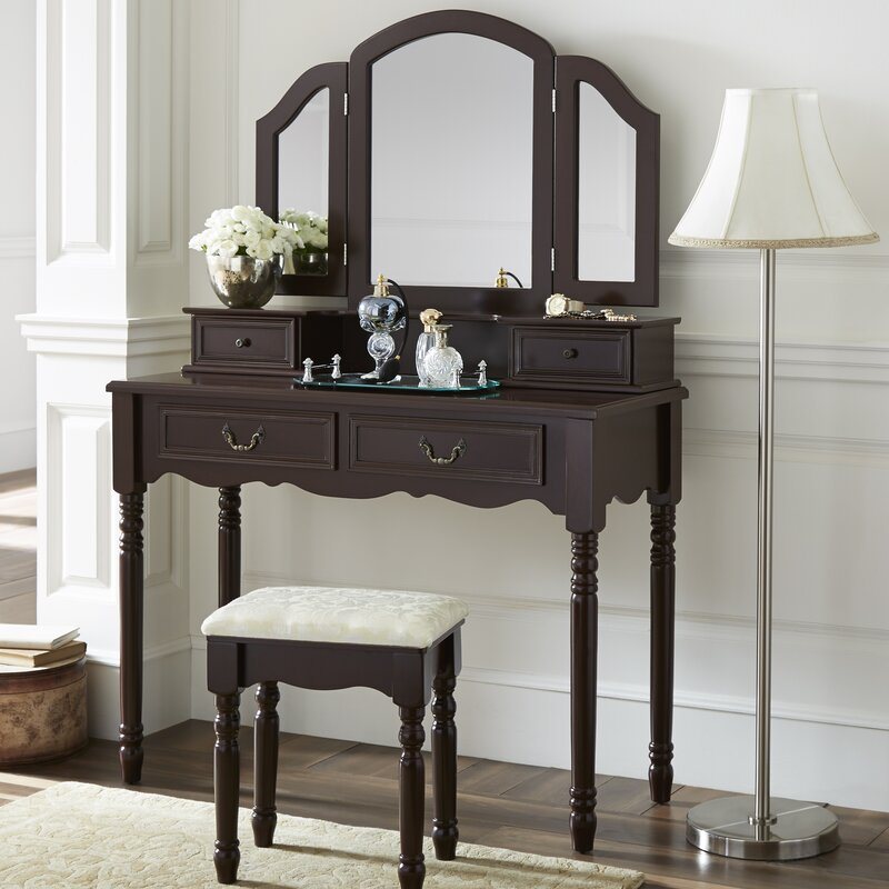 Elegant Felda Elegant Dressing Vanity Set With Mirror