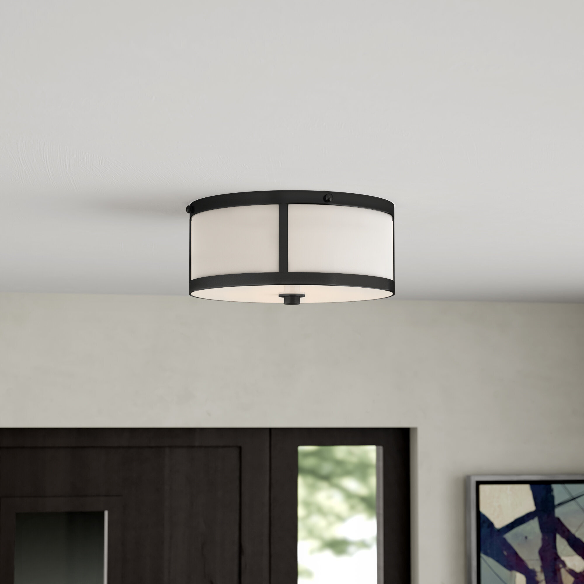 Ebern Designs Cordoba 2 Light Flush