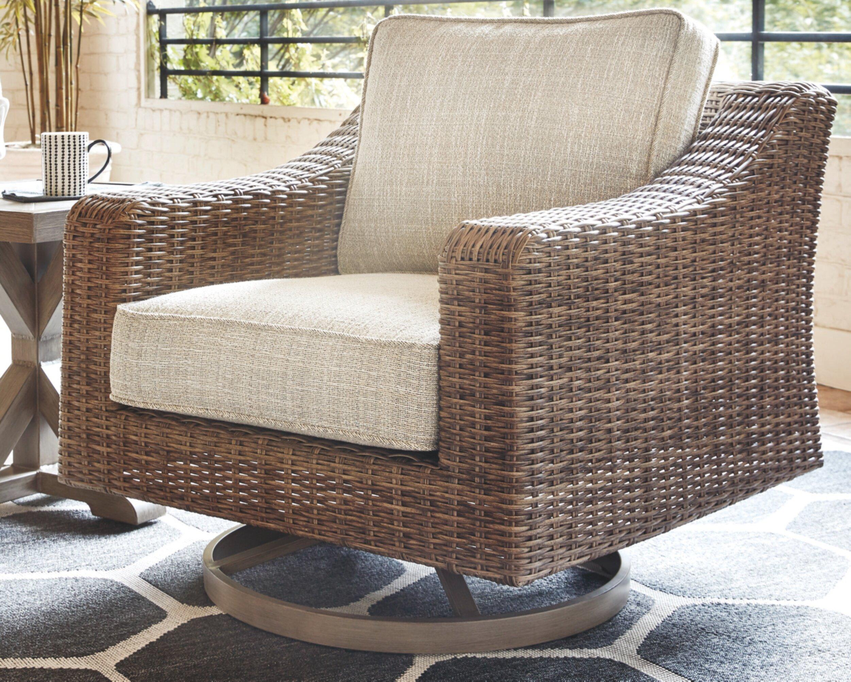 Wondrous Farmersville Swivel Patio Chair With Cushions Creativecarmelina Interior Chair Design Creativecarmelinacom