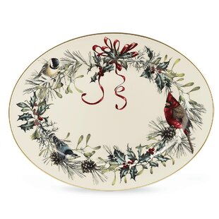 Lenox winter greetings wayfair winter greetings oval platter by lenox m4hsunfo