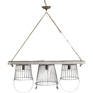 Platane 3-Light Kitchen Island Pendant