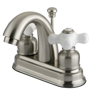 Kingston Brass Restoration Centerset Bathroom Sink Faucet with ABS Pop-Up Drain