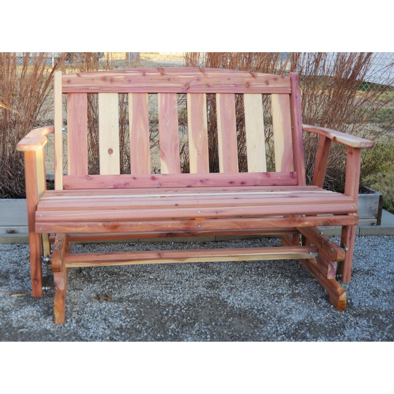AmeriHome Amish Glider Bench & Reviews | Wayfair