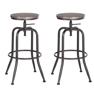 Reese Height Adjustable Swivel Bar Stool (Set Of 2) By Williston Forge
