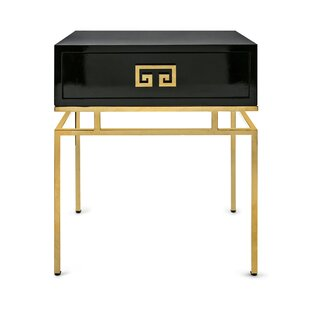 Everly Quinn Averie End Table with Storage