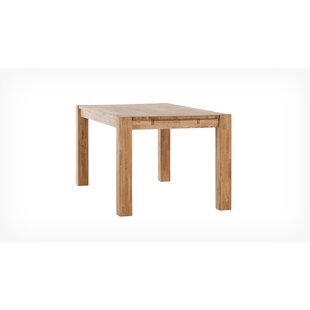 Watauga 87 Solid Wood Dining Table Highland Dunes