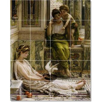 Picture Tiles Com 24 X 48 Ceramic Lawrence Alma Tadema Historical Painting Decorative Mural Tile 78 8 X 8 Set Of 18 Wayfair