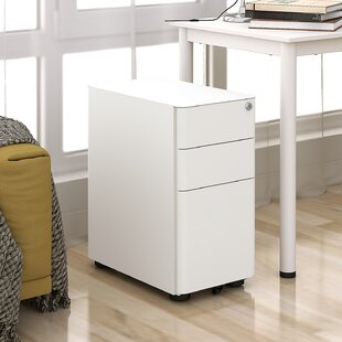 Kern 3-Drawer Mobile Vertical Filing Cabinet by Rebrilliant Read Reviews