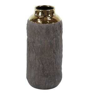 Wilclay Tree Bark Table Vase with Accent