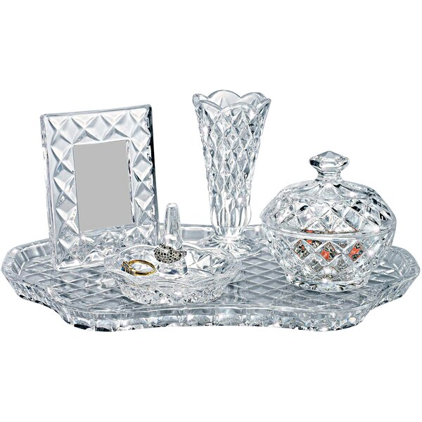 Godinger Silver Art Co 5 Piece Crystal Jewelry Box Set Reviews