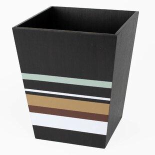 Saturday Knight, LTD Jessen Stripe Manufactured Wood Waste Basket