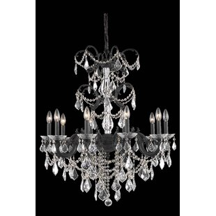 Rosdorf Park Cherie 10-Light Traditional Candle Style Chandelier