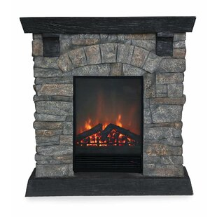Stacked Stone Electric Fireplace by Plow & Hearth