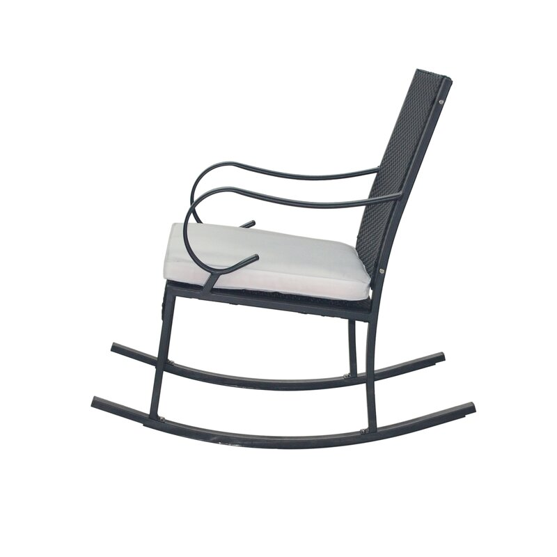 Kampmann Outdoor Wicker Rocking Chair With Cushions