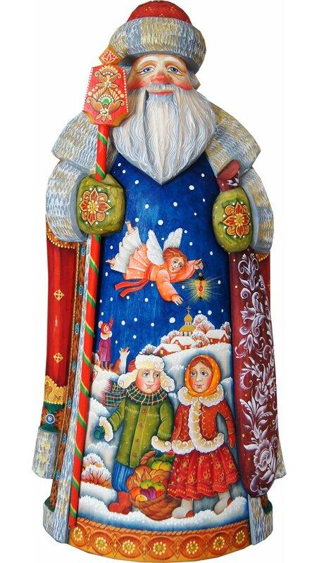 G Debrekht Masterpiece Signature Guarded Kids Father Frost Santa Figurine Wayfair