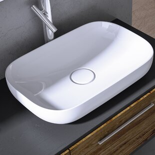 WS Bath Collections Vision Ceramic Oval Vessel Bathroom Sink