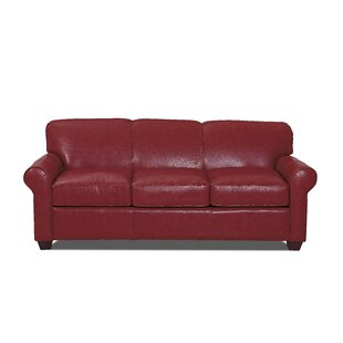Jennifer Leather Sofa by Wayfair Custom Upholstery™