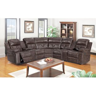 Elsass Reclining Sectional Red Barrel Studio