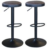 Swivel Adjustable Height Bar Stool (Set of 2) by AmeriHome