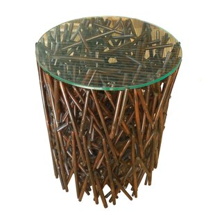 Lunado Maze Bamboo End Table by Bay Isle Home